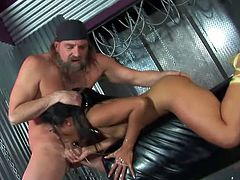 The only reason this guy freed Lyla Lei from her cage is because he wants her to suck his big dick. And the Asian slut does that with a deepthroat addition!