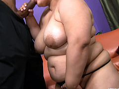 Karla is chunky and she wants to be in a better shape. Well all those hard exercises won't get her where she wants but sucking her trainer's cock will do. She loves muscled men and this guy makes her insanely horny. She leaves that weight for his dick and begins sucking it with pleasure while rubbing her fat pussy