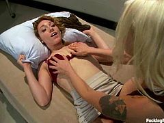 Two sassy and naughty babes Lily Labeau and Lorelei Lee are so fucking hot and crazy! Babes get naked and get on that powerful fucking machine!