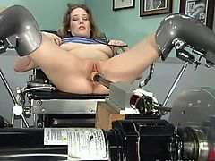 This smoking hot angel Jade Marxxx is a doctor and she has a fucking machine in her lab. Well, there is not much work to do and she can afford herself a nice penetration!
