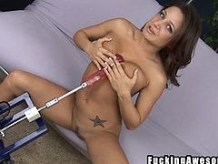milf plays with her hardcore tool