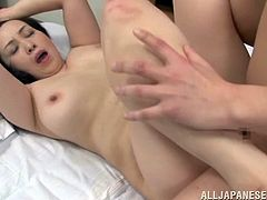 The chubby Asian MILF Yuuko Kuremach is taking a hardcore fucking and the busty Japanese is loving it.