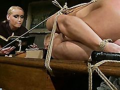 Blonde Kathia Nobili fulfills her sexual desires with Salomes tongue in her snatch