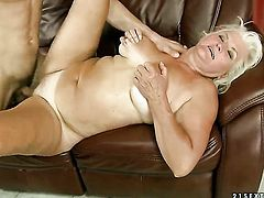 Blonde with huge melons enjoys the warmth of guys throbbing rod deep in her hole
