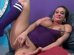 What a busty and super naughty siren Tory Lane is! She is going to make that hard cock get even harder with her mouth and her pussy!