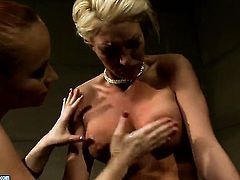 Blonde Katy Parker with huge jugs and Pearl Diamond enjoy lesbian sex they wont soon forget