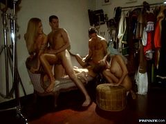 Cassandra Wild, Kata Lynn and Wanda Curtis are playing dirty games with some dudes indoors. They please the studs with terrific blowjobs and then allow them smash their sweet vags and tight pussies.
