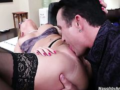 Katja Kassin with big booty is totally fuckable and hot guy Billy Glide knows it