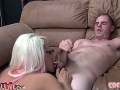 Gabriella Paltrova and Jacky Joy are playing dirty games with two dudes. The hotties admire the studs with their cock-sucking abilities and then get their pussies pounded in cowgirl and other positions.