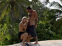 Two Cocks for Each Blonde at the Beach with Julie Silver and Sarah Blue