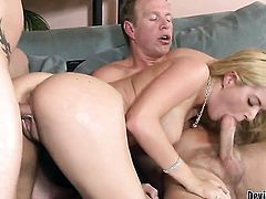 Kodi Gamble and horny dude have a lot of fun in this blowjob action
