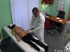 Stressed babe gets pussy fucked by her doctor