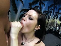 Alissa Belle makes dudes throbbing fuck stick disappear in her mouth in sexual ecstasy