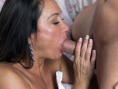 Slutty babe screams of pleasure while having her shaved cunt ravaged in hardcore