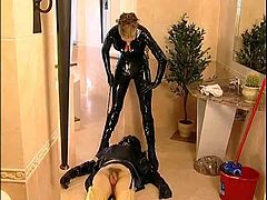 dominatrix sissy maid, Strapon