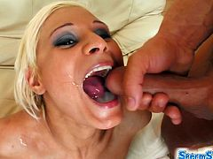 Sperm Swap brings you a hell of a foursome video where a fiery blonde and a wild brunette get dped and creamed by two horny studs while assuming very nasty poses.