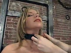 Chanta-Rose is having fun with Jenni Lee in a basement. Chanta binds and torments Jenni, then rubs her nice pussy with a toy and enjoys the way she moans.