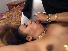 Threesome action can start when that horny Indian slut sucks two cocks at same time, she gets cock deep in her vagina while she sucks the other one.