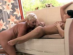 Old and young lesbians make each other cum caressing each other's snatches orally. Check out this hot sex video now and I'm kinda sure you will enjoy watching it.