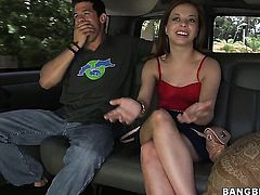 Aurora Monroe with juicy butt gets her throat fucked literally to death by hot man