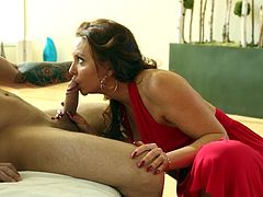 Slutty mom enjoys her step son during full and intense hardcore fuck session