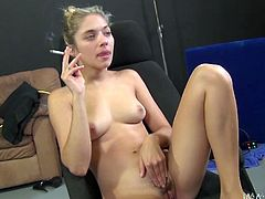 Hot skanks Ava Devine and Lia Lor are having fun with Tristan Berrimore and his buddies. The bitches show their cock-sucking skills and then get their snatches ripped apart.