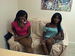 Hot blonde Chyna and Marie Chantilly kissing and licking pussy each other, very good lesbian action.Ebony chyna and Marie casting call black lesbian audition, pussy licking clit sucking tit kissing makeout finger bang.