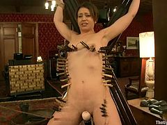 Two gorgeous sex slaves Cherry Torn and Sarah Shevon are being tortured so fucking hard! They get naked and start being tortured so fucking hard, being twitched and waxed hard.
