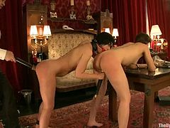 BOndage and pleasant pussy rubbing with Cherry and Sarah
