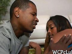White babe is getting her anal drilled so well by ebony thug