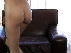 Cassie Laine with small tits and trimmed twat does her best to get you hot in solo scene