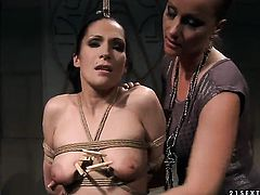 Mature Katy Parker with huge jugs satisfies her sexual needs with Carrmen in lesbian action