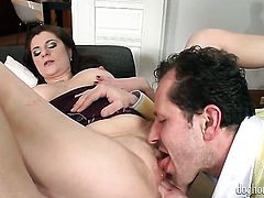 Wein Lewis is horny as hell and fucks with wild passion in anal porn action with George Uhl