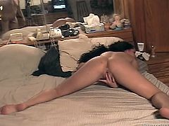 Dark haired chick gets her luscious butt fucked hard