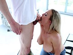 Busty blonde beauty feels awesome with a big cock fucking her fast and deep