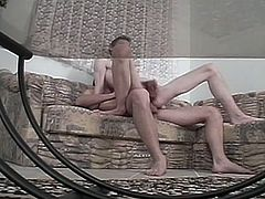 After blowing his friend's hard rod of meat and letting him munch his ass, this horny twink is ready to be barebacked balls deep into a massive gay anal orgasm.