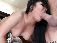 Asian Lana Violet with bald snatch and hard dicked dude Billy Glide do dirty things
