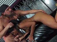 Freaky caged asian rod dicklick from Lyla Lei