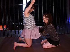 Life behind the bars is difficult and boring but when there are to hot girls locked in together, well, thats when things start to get interesting! Kaede Fuyutsuki and her girlfriend Shou Nishino dont waste time and what started off as just kissing, soon turned into full blown clothes-off lesbian licking and fingering session.