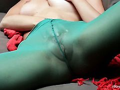 Ariel with big tits screams as she fucks herself with sex toy