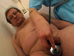 Jerking and blowjob is what that nasty nurse doing to that stud and he can not wait to make that slut insane, he bangs her wild and hard after that.