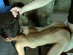 Slim Asian girl gets toyed and bounded by Wolf Hudson. After that she gets fucked rough in her ass from behind.