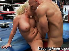 Johnny Sins stretches cute Angel Vains cunt with his rock solid boner to the limit