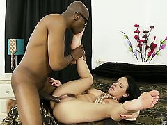 Sean Michaels cant resist fuck crazed Katie St. Ivess attraction and fucks her mouth like crazy