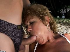 We didnt see our good old mature superslut Effie in a while on lustygrandmas.com. She was busy doing OldYoungLesbianLove.com but she got bored with all the tongues, fingers and artificial cocks. Now she craves for real meat and flesh of a man and of course who else would give it to her than us! Come and see the grumpy old cunt getting fucked by the riverbank once more!