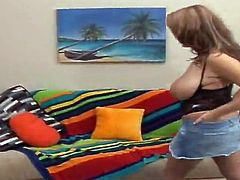 Bosomy blonde milf Brandy Talore gives the best titjob ever