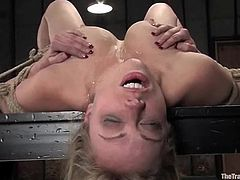 Amazing Adrianna Nicole gets her tits tortured with claws. After that she also gets tied up. Then she sucks dicks and gets pounded.