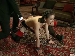 Dylan Ryan and her lecherous GF let Maestro Stefanos tie them up and toy their holes. Then Maestro spanks the chicks and forces them to eat each other's cunts.