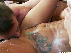 Her sexy body is so good,that her new boyfriend fucked her all day long.Her pussy got fucked and finger drilled few times already as she enjoyed it every time.Watch her having sex in Brazzers Network sex clips.