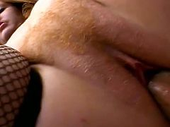 Down on her knees with two hard cocks in her hands is perfect scene and those two fuckers are so ready to destroy her vagina before nasty cumshot.